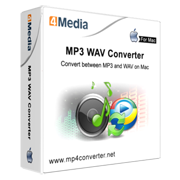 4Media MP3 WAV Converter for Mac