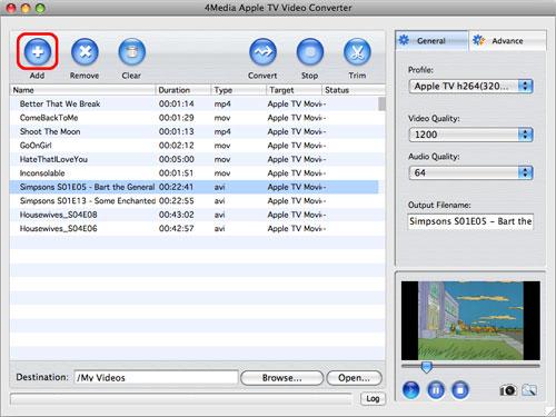 Apple TV Video Converter for Mac