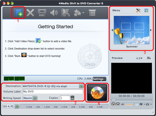 Burn DivX to DVD Mac