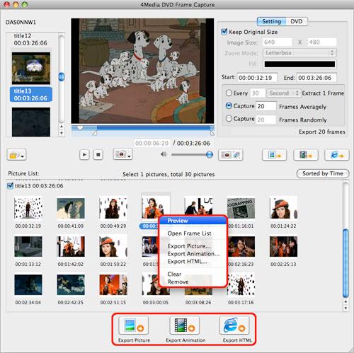 Capture DVD Frame on Mac computer