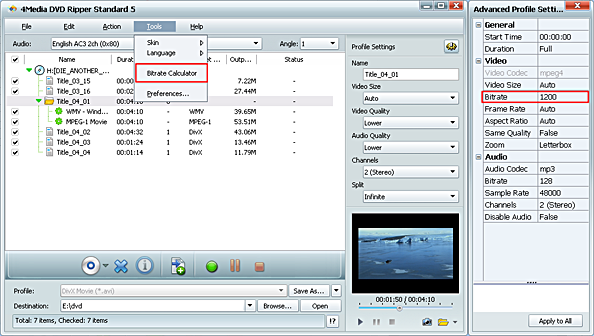 DVD to video converting software