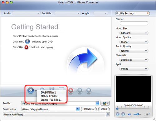 4Media DVD to iPhone Converter for Mac