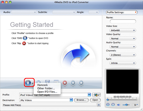 Convert DVD to iPod movie