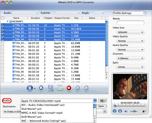 Convert DVD to MP4 on Mac