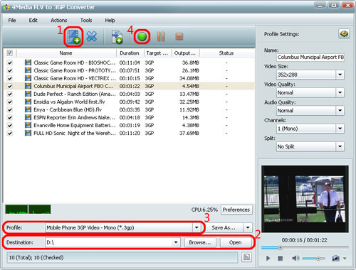 How to convert FLV to 3GP