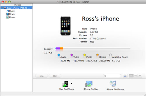 How to transfer iPhone to Mac