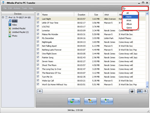 Transfer from iPod to iTunes