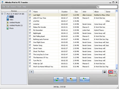 iPod music transfer