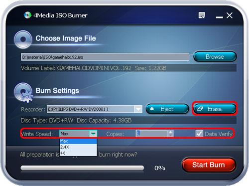 Burn ISO image to CD