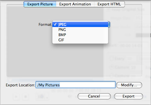 Get frame from videos on a Mac