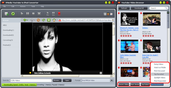 Download YouTube to iPod