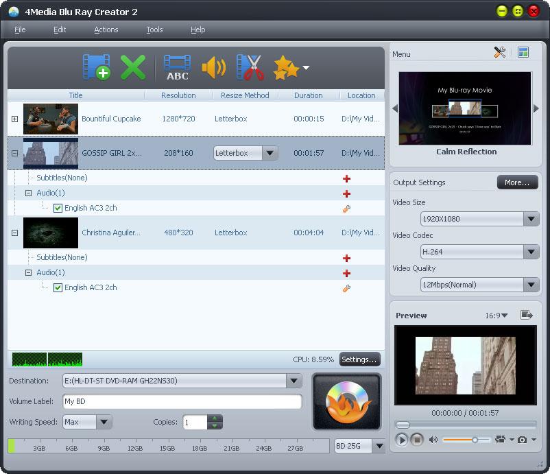 التعريب 1261 _ 4Media Blu-ray Creator 2 لتحويل ملفات الفيديو إلى أقراص Blu-ray و DVD m-blu-ray-creator-ex