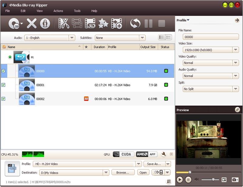4Media Blu Ray Converter