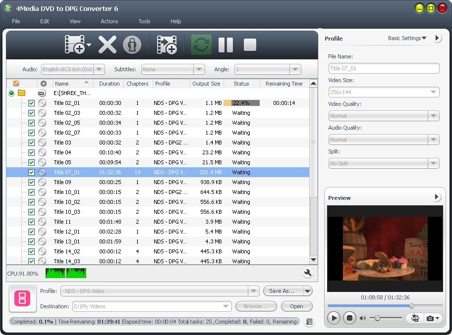 4Media DVD to DPG Converter 6