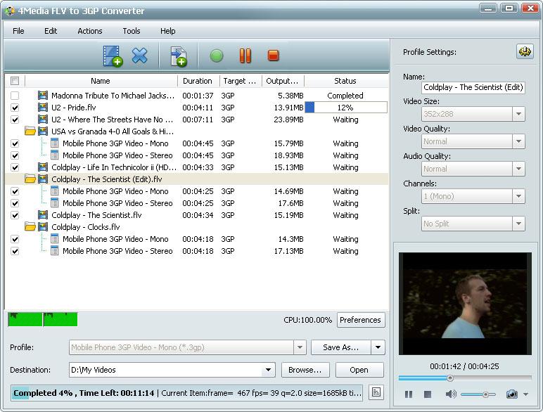 التعريب 722 4Media FLV 3GP m-flv-to-3gp-convert