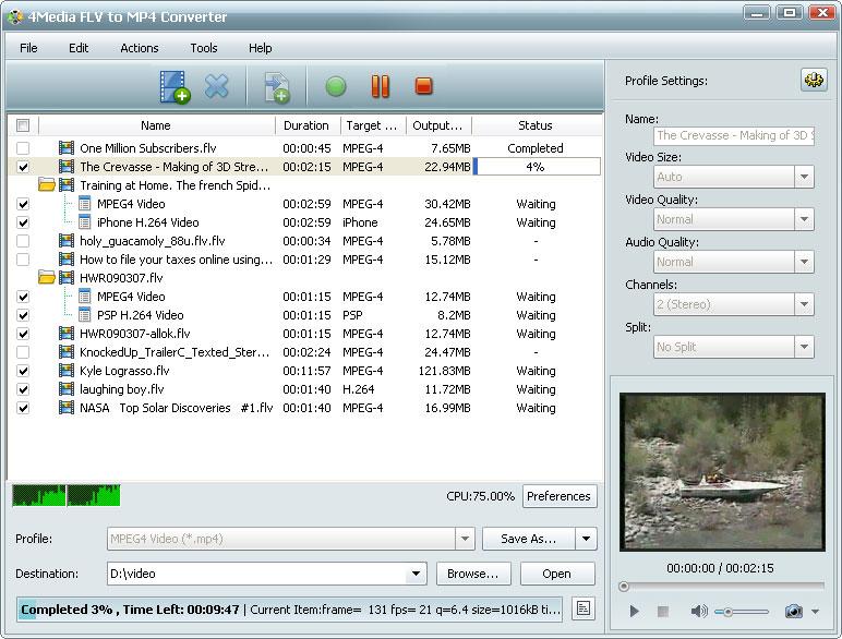 التعريب 603 4Media FLV MP4 m-flv-to-mp4-convert