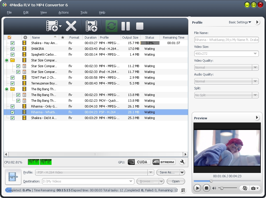 4Media FLV to MP4  Converter