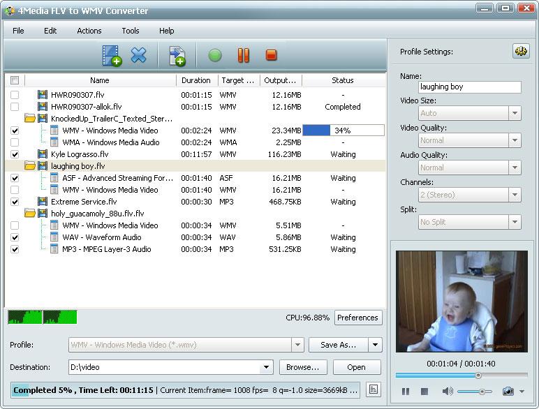 التعريب 604 4Media FLV WMV m-flv-to-wmv-convert