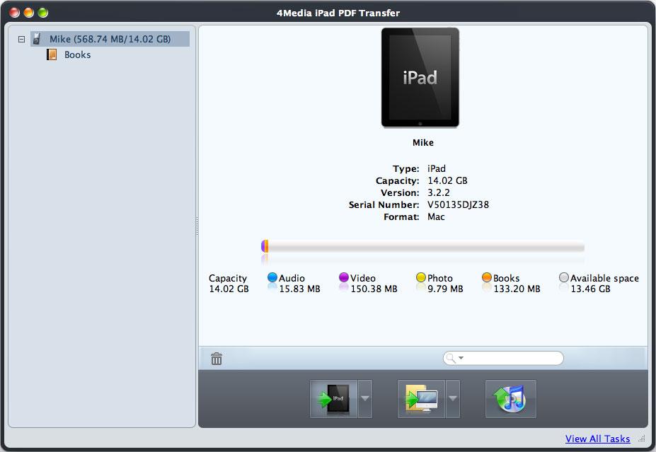 4Media iPad PDF Transfer fot Mac