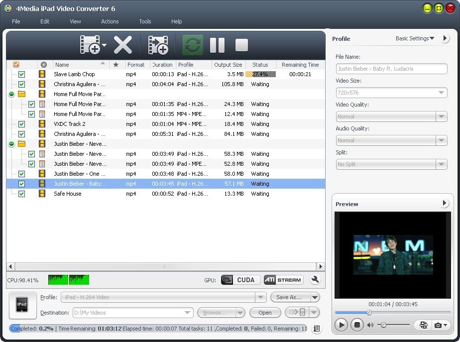 التعريب 1287 _ 4Media iPad Video Converter 6 لتحويل الفيديو الصوت إلى صيغ الآيباد iPad m-ipad-video-convert