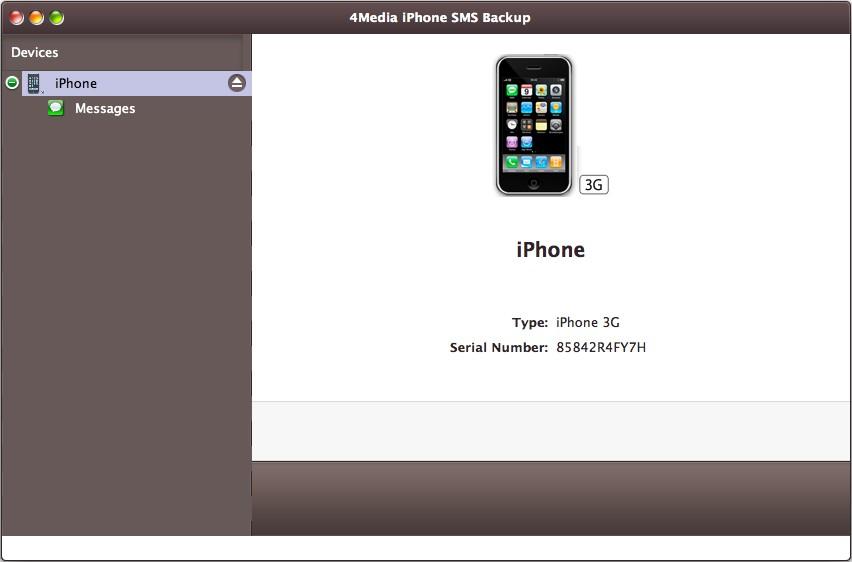 4Media iPhone SMS Backup for Mac Screenshot