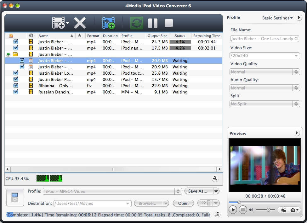 Key Features of iPod Movie Converter for Mac