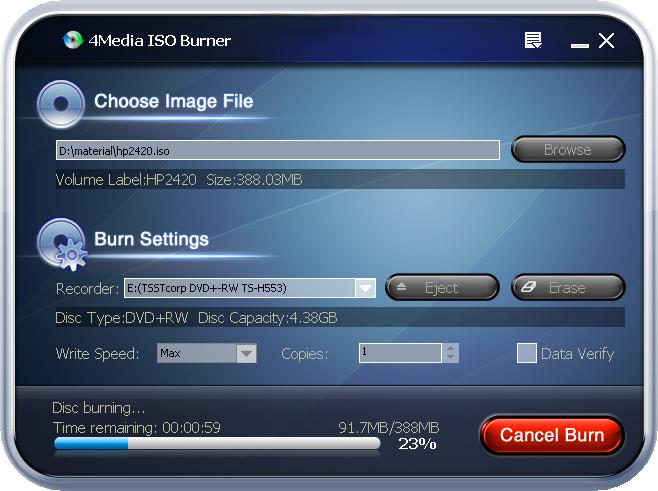 التعريب 493 ـ 4Media ISO Burner لحرق ملفات ISO و ملفات التصاوير الأخرى المشابهة m-iso-burner.png