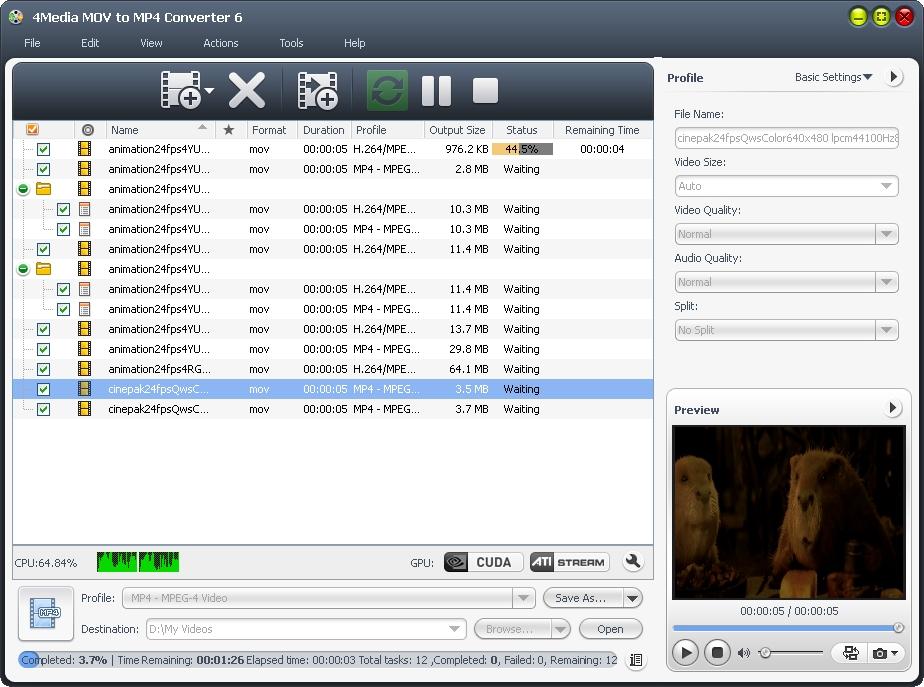 4Media MOV to MP4 Converter
