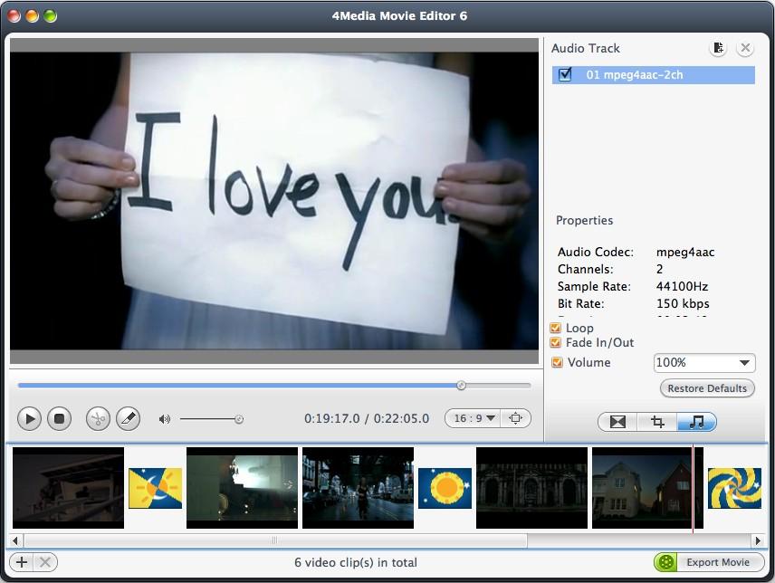 4Media Movie Editor for Mac