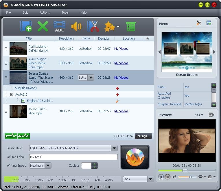 التعريب 1300 _ 4Media MP4 to DVD Converter 6 تحويل ملفات فيديو MP4 إلى صيغة DVD m-mp4-to-dvd-convert