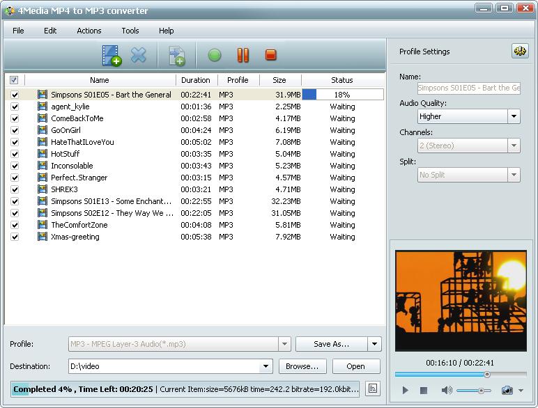 التعريب 495 4Media MP4 MP3 m-mp4-to-mp3-convert