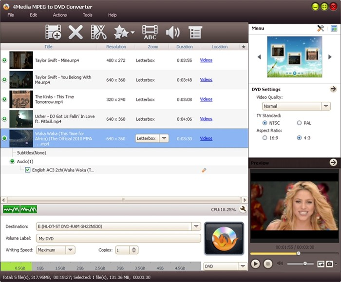 4Media MPEG to DVD Converter