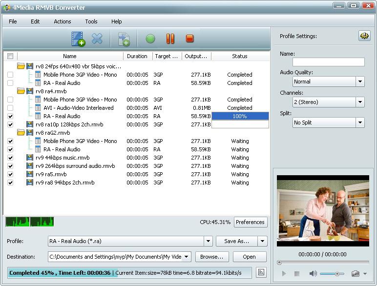 التعريب 730 ـ 4Media RMVB Converter 5 لتحويل ملفات فيديو من و إلى RMVB m-rmvb-converter.jpg
