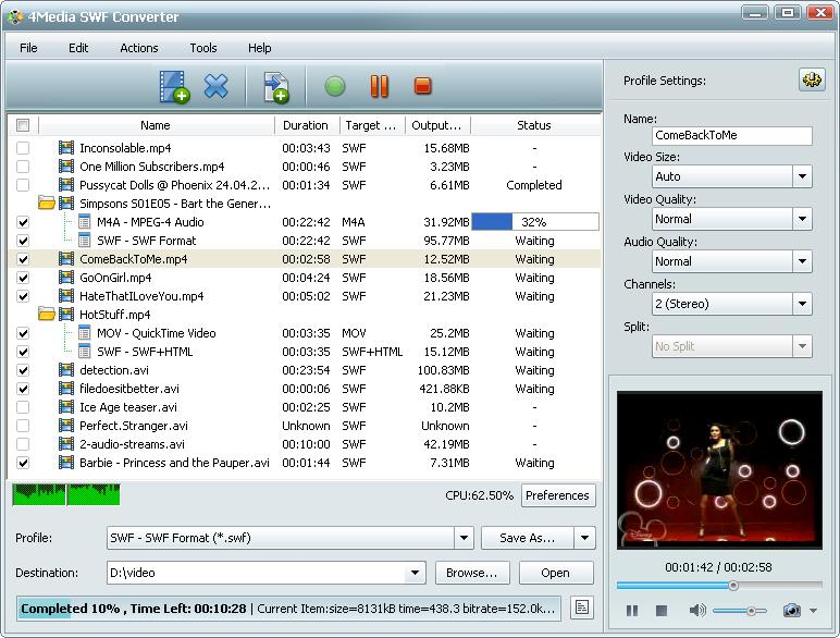 التعريب 605 ـ 4Media SWF Converter 5 لتحويل أغلب ملفات الفيديو إلى فلاش SWF m-swf-converter.jpg