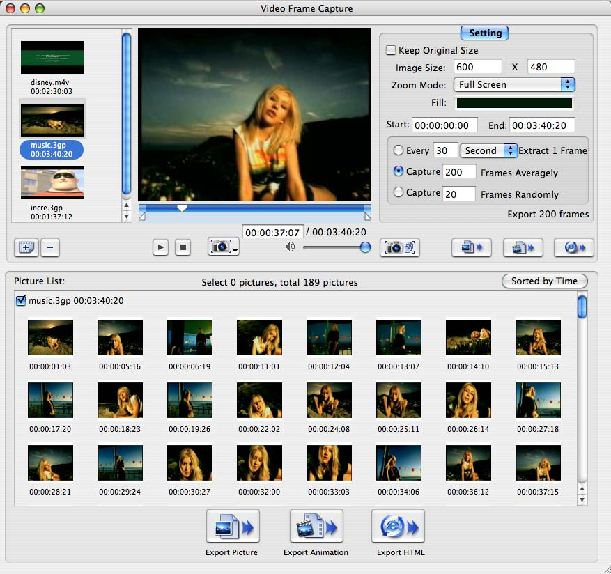 4Media Video Frame Capture for Mac - capture video on Mac