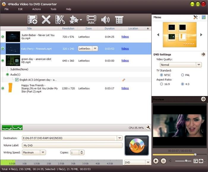 4Media Video to DVD Converter