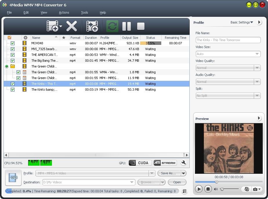 4Media WMV MP4 Converter