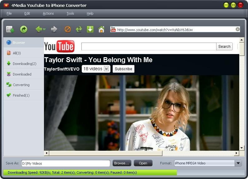 4Media YouTube to iPhone Converter