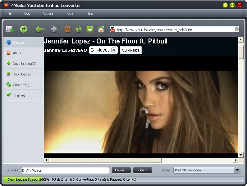 4Media YouTube to iPod Converter